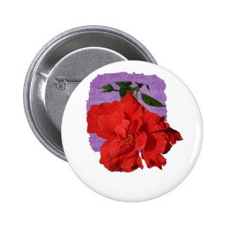 Hibiscus Red Flower Photograph Design 2 Inch Round Button