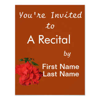 Hibiscus Red Flower Photograph Design 4.25x5.5 Paper Invitation Card