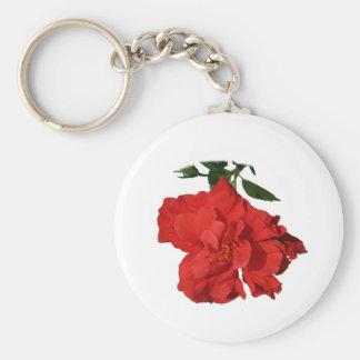 Hibiscus Red Flower Photograph Design Basic Round Button Keychain