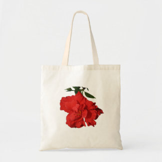Hibiscus Red Flower Photograph Design Budget Tote Bag