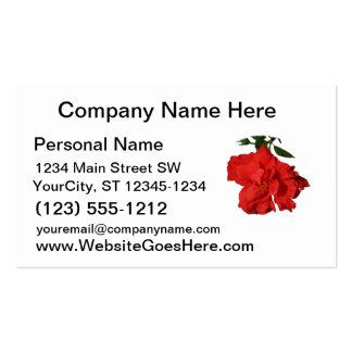 Hibiscus Red Flower Photograph Design Double-Sided Standard Business Cards (Pack Of 100)