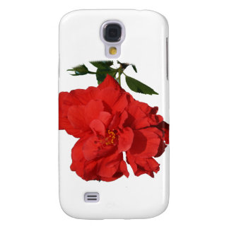 Hibiscus Red Flower Photograph Design Galaxy S4 Covers