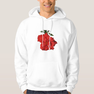 Hibiscus Red Flower Photograph Design Pullover