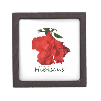 Hibiscus Red Flower With Text Premium Gift Box