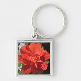 Hibiscus Red Flowering Plant Key Chain
