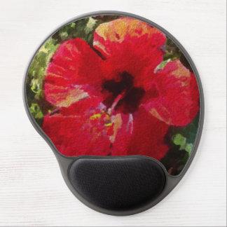 Hibiscus Red Gel Mousepad