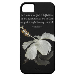 Hibiscus Reflection With Quote Droid RAZR Case