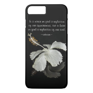 Hibiscus Reflection With Quote iPhone 7 Plus Case