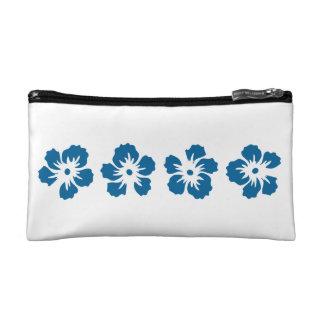 hibiscus rose of Sharon blue Makeup Bag