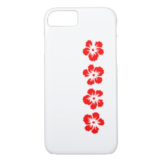 hibiscus rose of Sharon red iPhone 7 Case