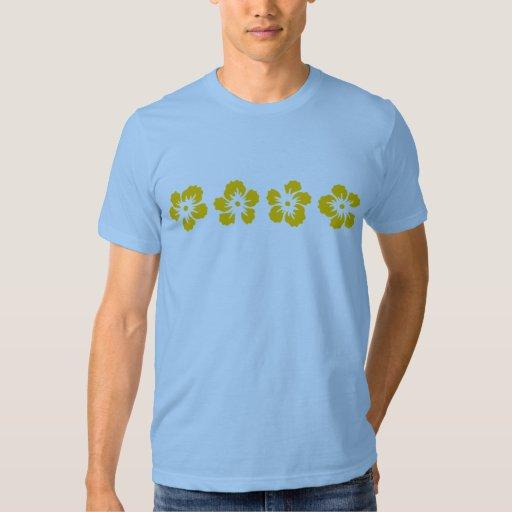 hibiscus rose of Sharon yellow T-shirt