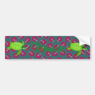 hibiscus-Sea Turtle Hawaii - Customize it Bumper Sticker