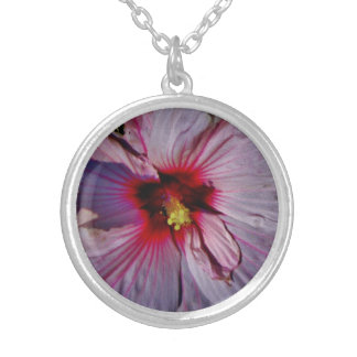 Hibiscus Silver Plated Necklace