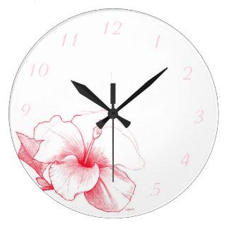 Hibiscus Sketch clock