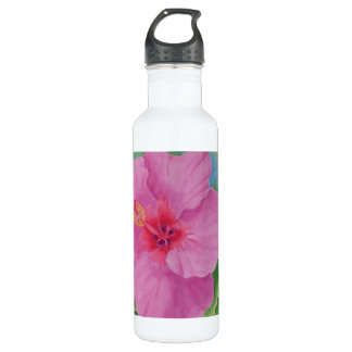 Hibiscus Stainless Steel Water Bottle
