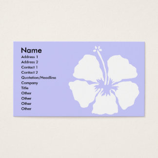Hibiscus style aloha flower business card