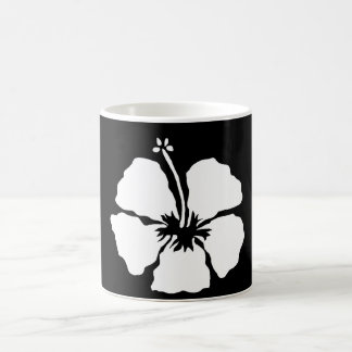Hibiscus style aloha flower coffee mug