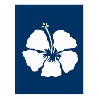 Hibiscus style aloha flower postcard