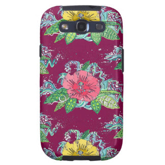 hibiscus surf berry galaxy s3 cover