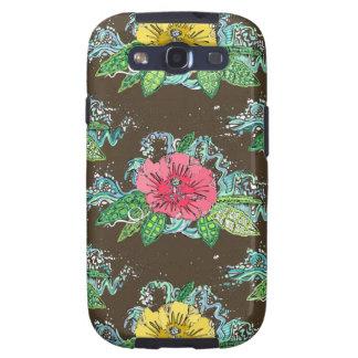 hibiscus surf coffee galaxy s3 case