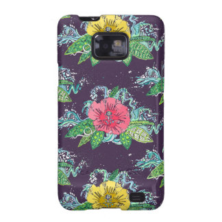 hibiscus surf grape samsung galaxy s2 cover