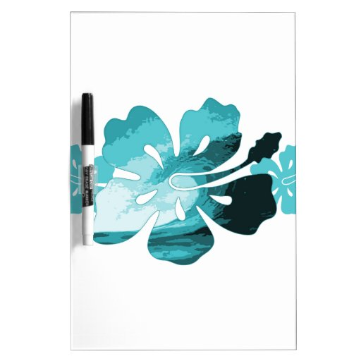 Hibiscus surf style dry erase whiteboards