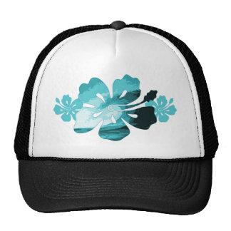 Hibiscus surf style trucker hat
