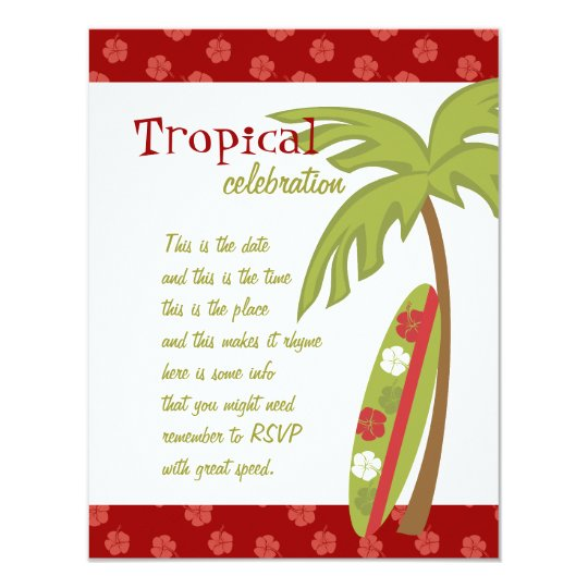 Hibiscus Surfboard Card