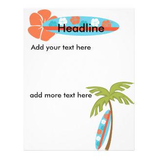 Hibiscus Surfboard Flyer