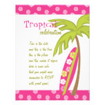 Hibiscus Surfboard Personalized Announcement