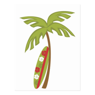 Hibiscus Surfboard Postcard