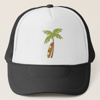 Hibiscus Surfboard Trucker Hat