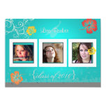 "Hibiscus/Swirls/tropical flowers photos 5"" X 7"" Invitation Card"