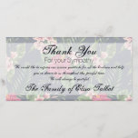 """Hibiscus Sympathy Thank you Photo Card<br><div class=""""desc"""">Classic and elegant seamless pattern design made of red Hibiscus flowers and leaves. Two half transparent tags for your text. Customizable Sympathy thank you photo card. You can easily change text (font, color, size and position) by clicking the personalize or customizable button. Matching Sympathy Thank You note card. Don&#39;t forgetthe...</div>"""