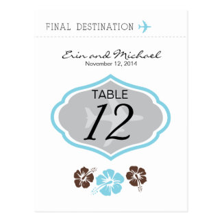 Hibiscus Table Card