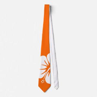 Hibiscus Tie Orange BG
