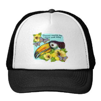 Hibiscus Toucan Trucker Hat