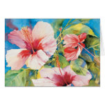 Hibiscus Triad Greeting Card