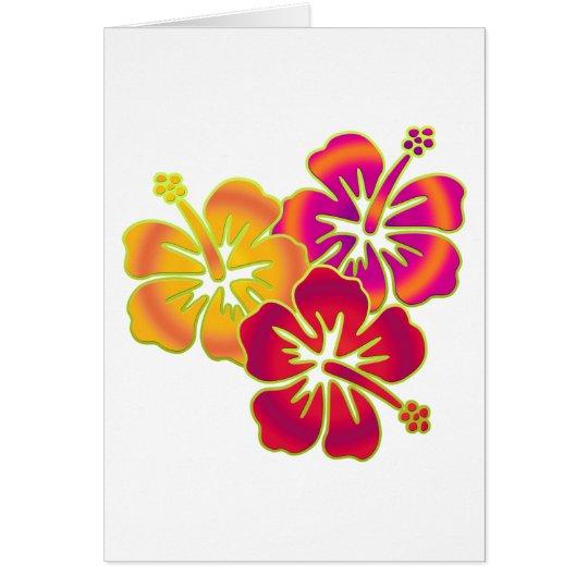 hibiscus trio card