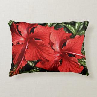 Hibiscus Tropical Flora Flower Accent Pillow