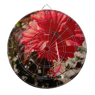 Hibiscus tropical flower dart board