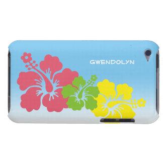 Hibiscus tropical flowers blossom trio Hawaiian iPod Case-Mate Case