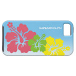 Hibiscus tropical flowers blossom trio Hawaiian iPhone 5 Cover