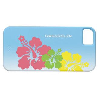 Hibiscus tropical flowers blossom trio Hawaiian iPhone SE/5/5s Case