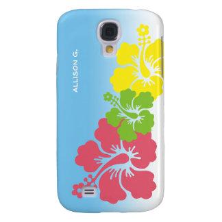 Hibiscus tropical flowers blossom trio Hawaiian Samsung Galaxy S4 Case