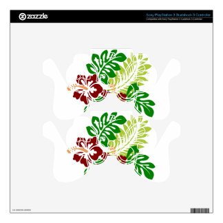 Hibiscus Tropical Flowers PS3 Controller Decal