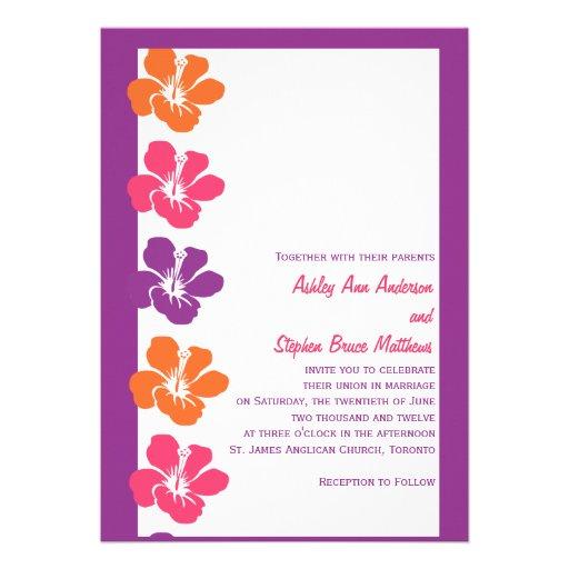 Hibiscus tropical wedding invitations zazzle for Tropical wedding invitations