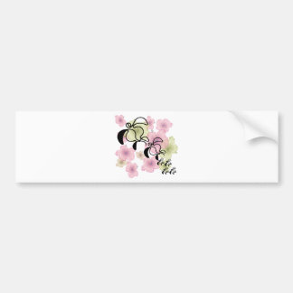Hibiscus-Turtle-Family Bumper Sticker