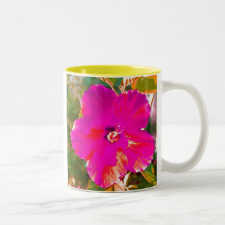 Hibiscus Two-Tone Coffee Mug