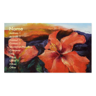 Hibiscus Volcano Business Card